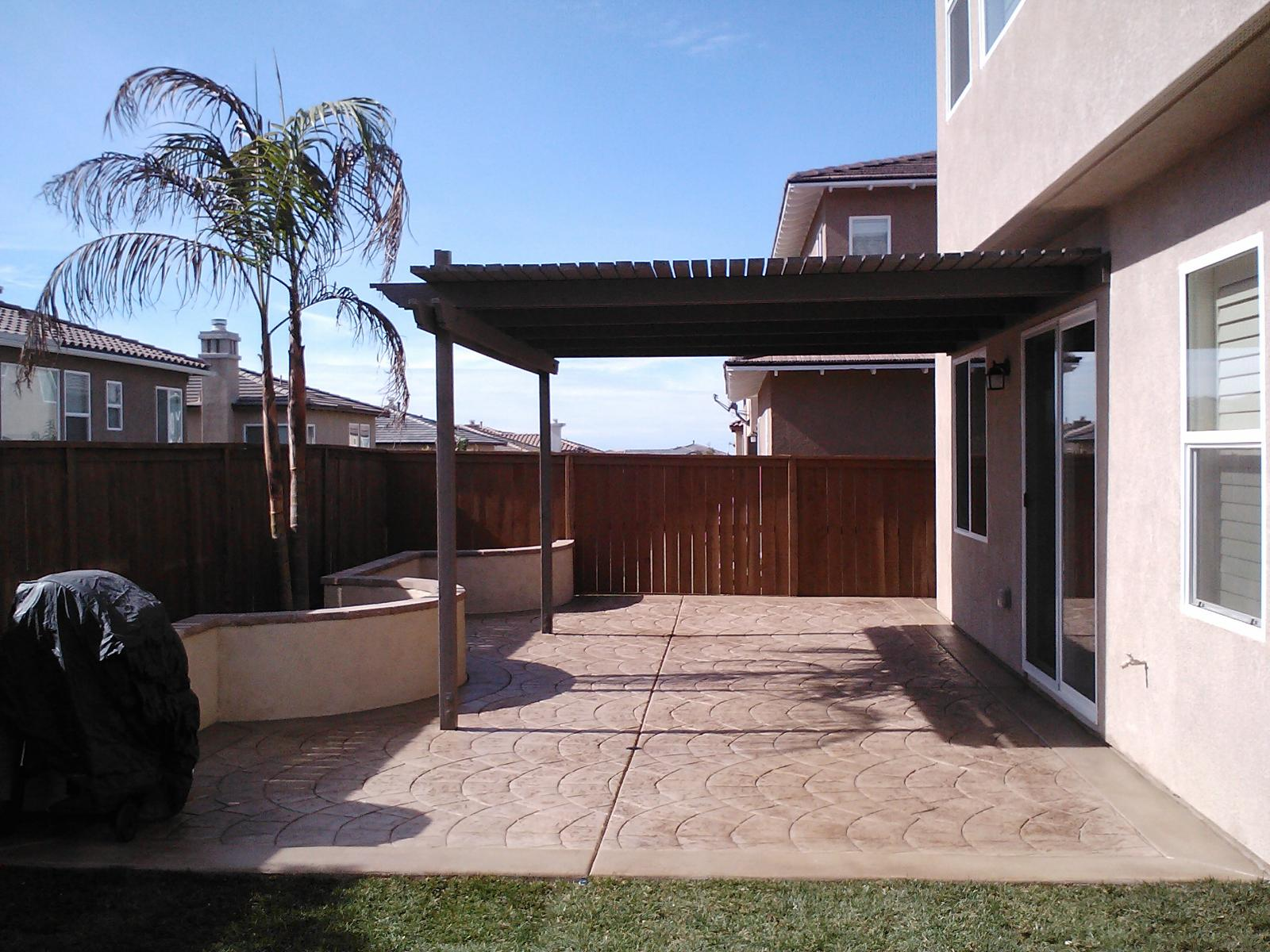 Stamped Patio Concrete Contractor Del Mar, Decorative Concrete Patio Contractors